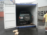 Container loaded and the cars secured