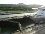 Miraflores locks opening, Panama Canal (video)