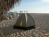 Camping on Cabo San Lucas Beach
